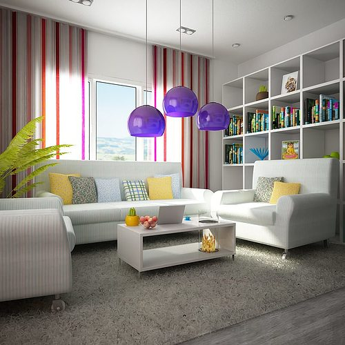 3d model living room architectural cgtrader for Living room 3ds max