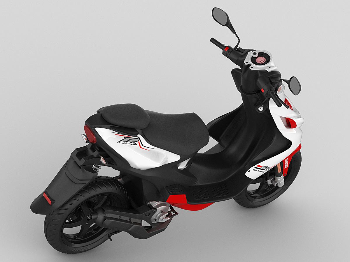 Yamaha Aerox R 2013 3d Model Max Obj Mtl 3ds Fbx C4d Lwo Lw Lws 4