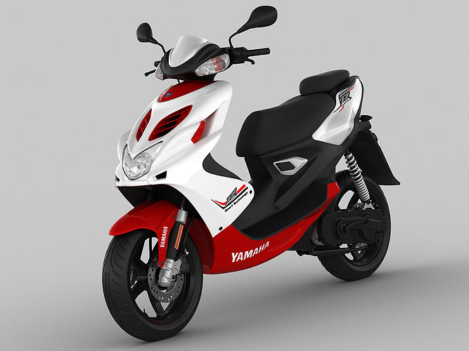 yamaha aerox r 2013 3d model max obj mtl 3ds fbx c4d lwo lw lws 1