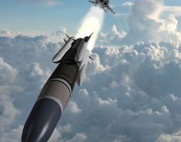 as-17 air launched cruise missile 3d model