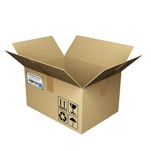Open Cardboard Box 3d Model Obj 3ds Fbx Blend Mtl