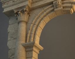 Old Stone Column Arch 3D