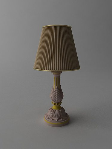 3d model lamp table lamp cgtrader for Table lamp 3ds max tutorial