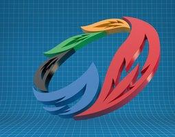 3D model Sochi Olympics Logo
