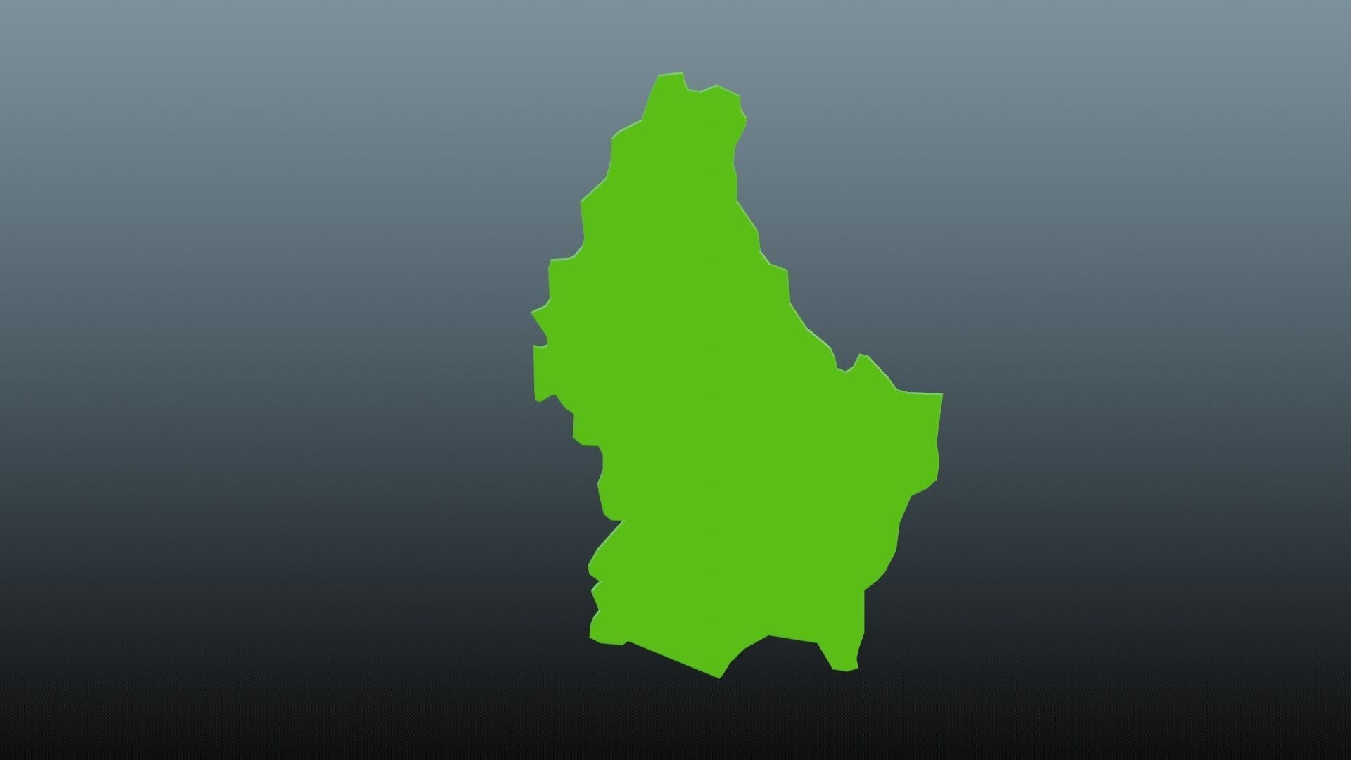 Luxembourg map symbol