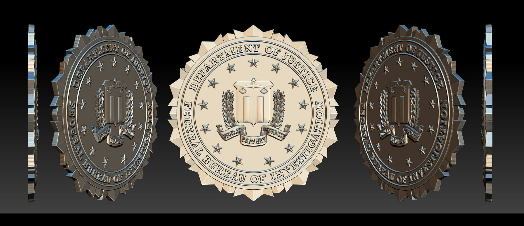 FBI Seal - 3D Badges