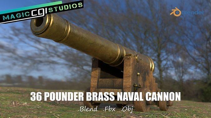 36 Pounder Brass Naval Cannon