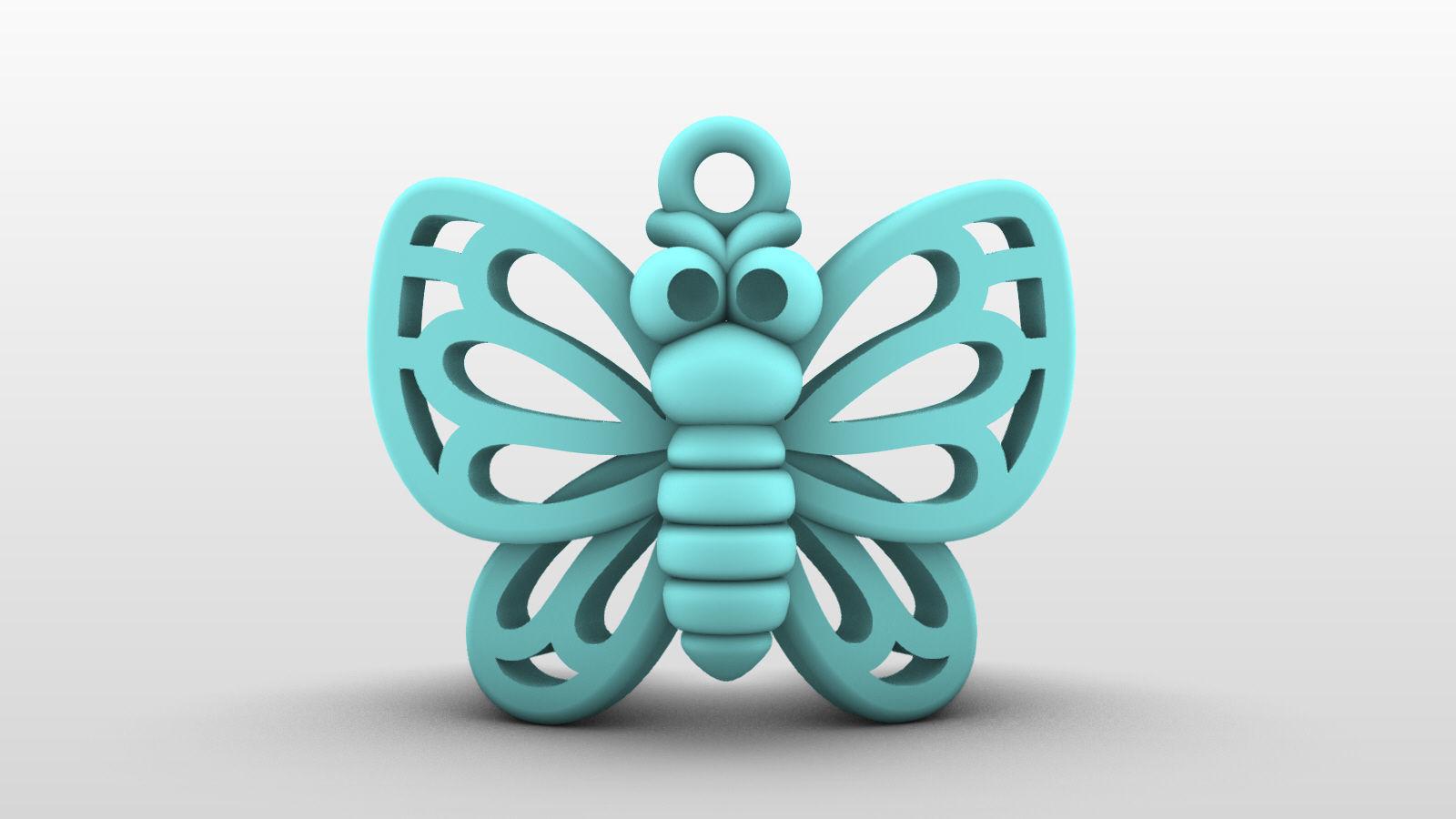 Charm pendant - adorable little butterfly