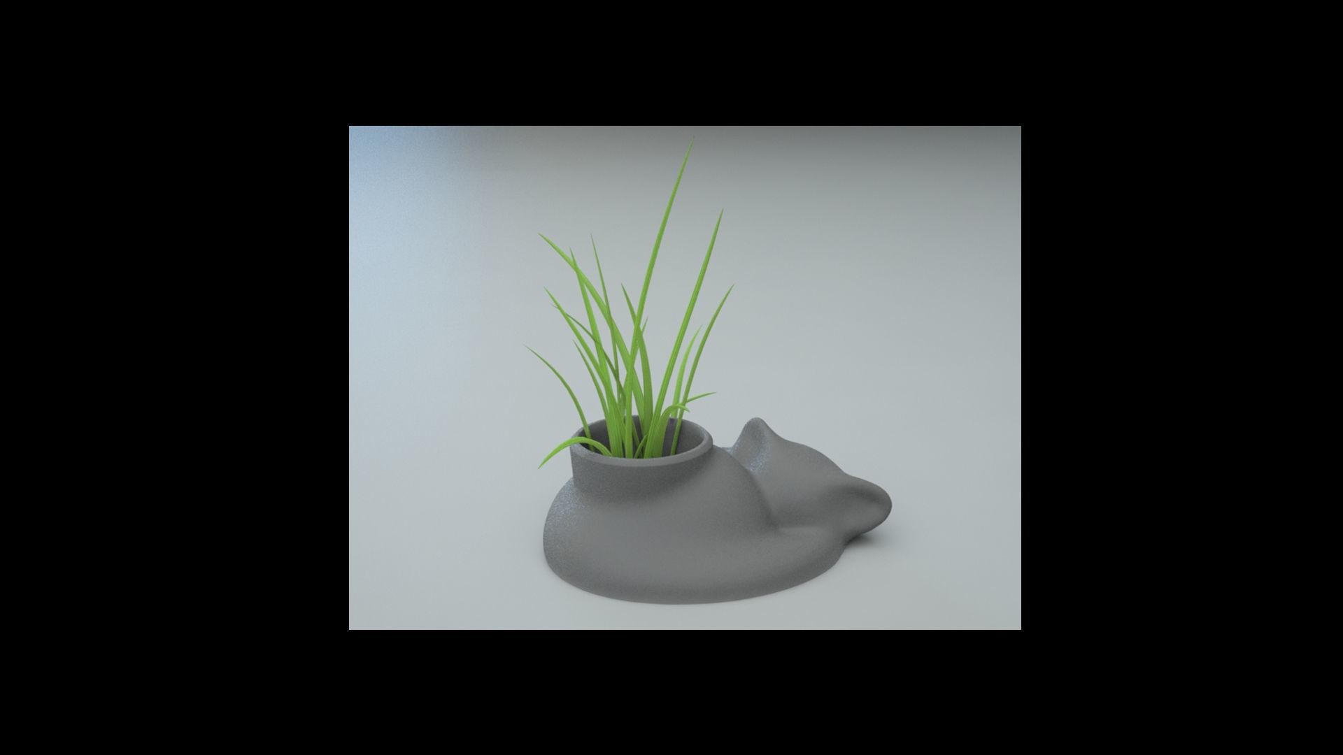 Cat Sleepy air planter pot