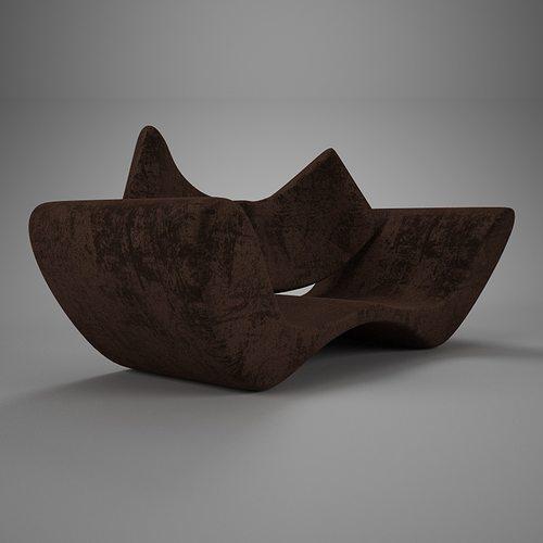 velvet brown vray material 3d model max obj mtl fbx 1