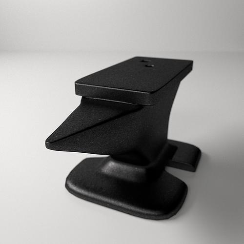 anvil 3d model 3ds fbx blend dae 3