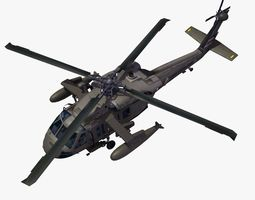 uh60 blackhawk helicopter 3d model max obj 3ds fbx lwo lw lws hrc xsi