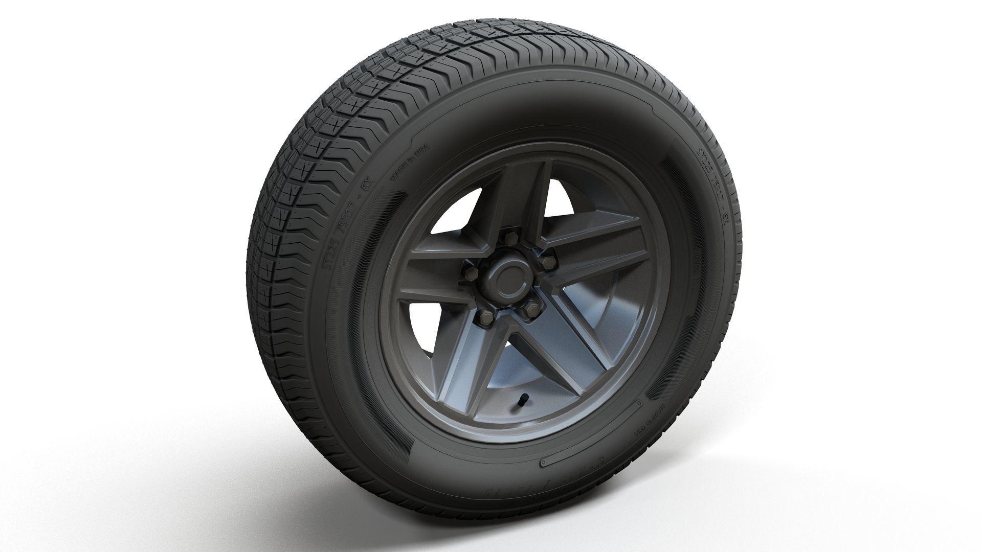 80s sport car wheel highpoly