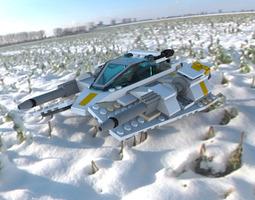 Modular Brick Snowspeeder 3D model