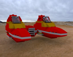 modular brick twinpod cloud car 3d