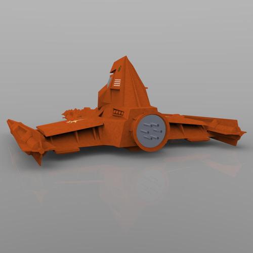 buck rogers draconian marauder 3d model obj 5