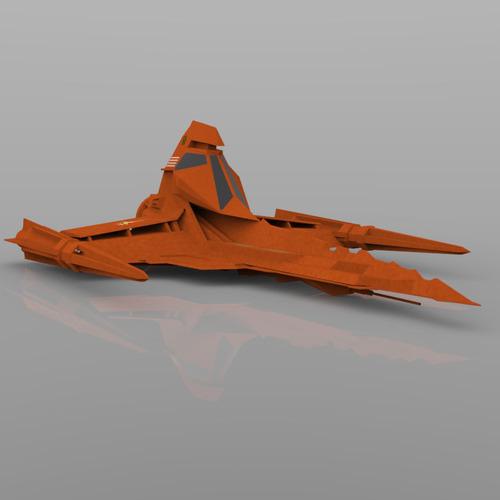 buck rogers draconian marauder 3d model obj 10