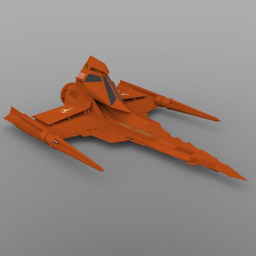 buck rogers draconian marauder 3d model obj 3