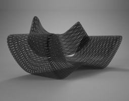 3D Grid Vray material