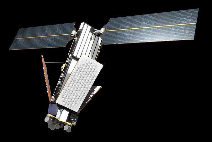 Satellite Panels Texture : Iridium d model satellite cgtrader
