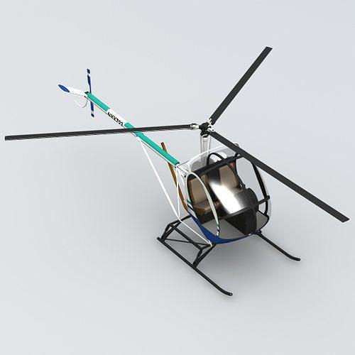 schweizer 300 helicopter 3d model obj 3ds lwo lw lws blend mtl 1