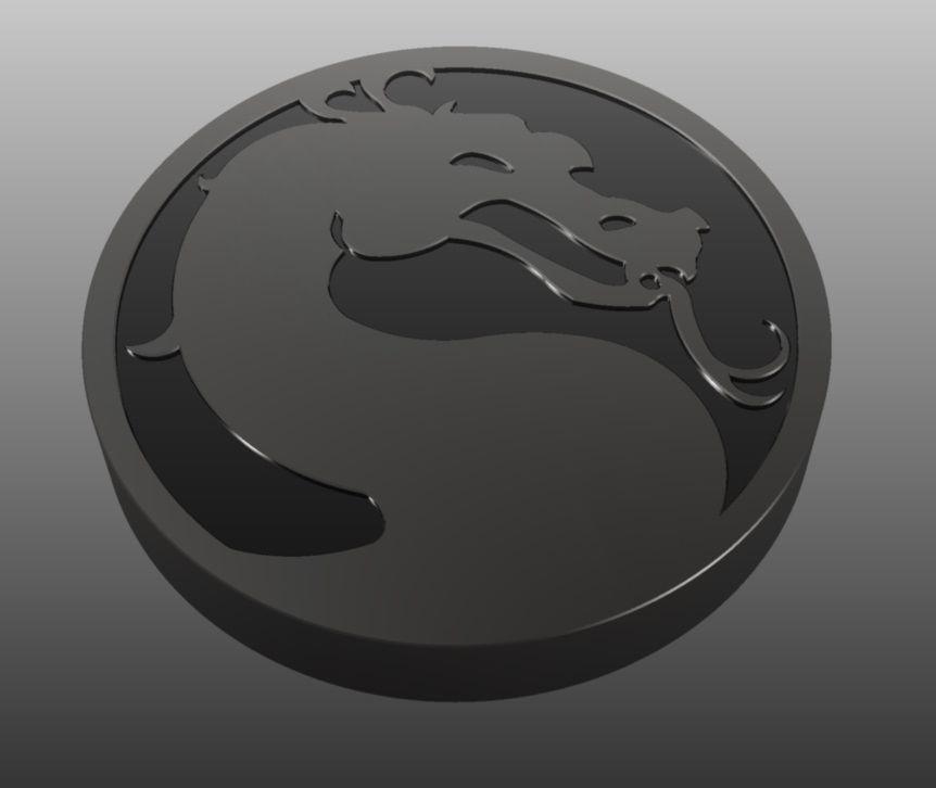 Mortal Kombat Logo 3d Model Cgtrader