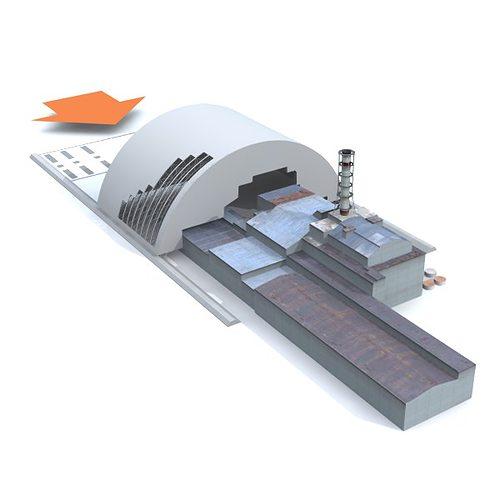 chernobyl reactor containment shelter 3d model obj mtl 3ds fbx lwo lw lws 1