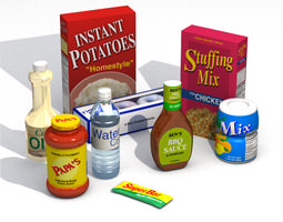 Food Packages Collection 3D model