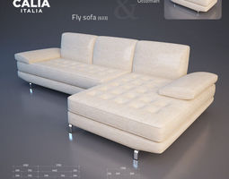 3d model calia italia - fly sofa