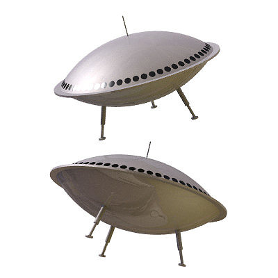 30 realistic flying saucers 3d model 3ds lwo lw lws 18