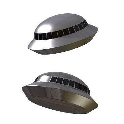 30 realistic flying saucers 3d model 3ds lwo lw lws 12
