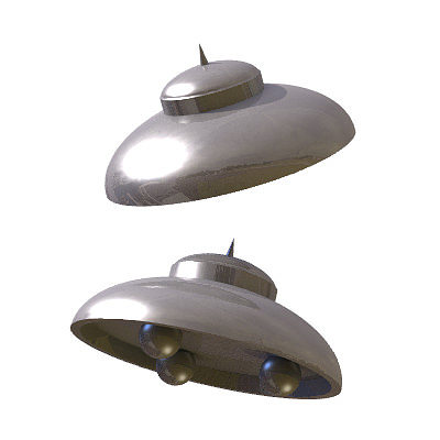 30 realistic flying saucers 3d model 3ds lwo lw lws 7
