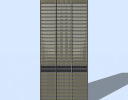 3D model Daley Civic Center