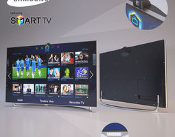 samsung smart led tv 3d model