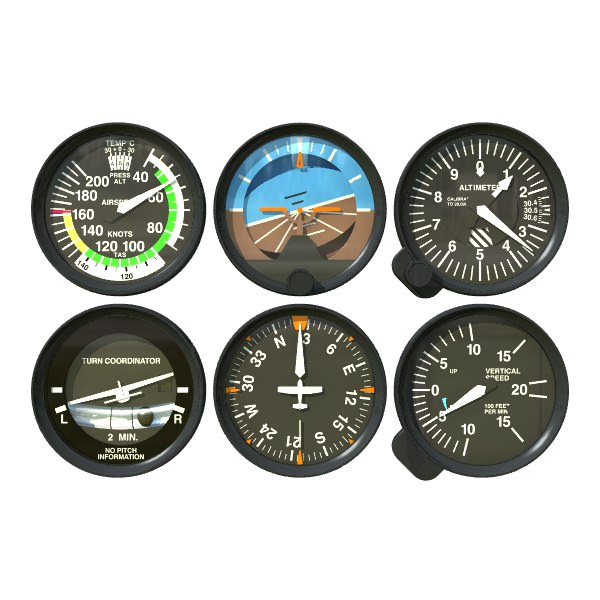 Aviation Instruments Six Pack