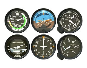 Aviation Instruments Six Pack 3D