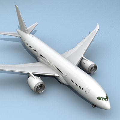787 airplane 3d model 3ds lwo lw lws 1