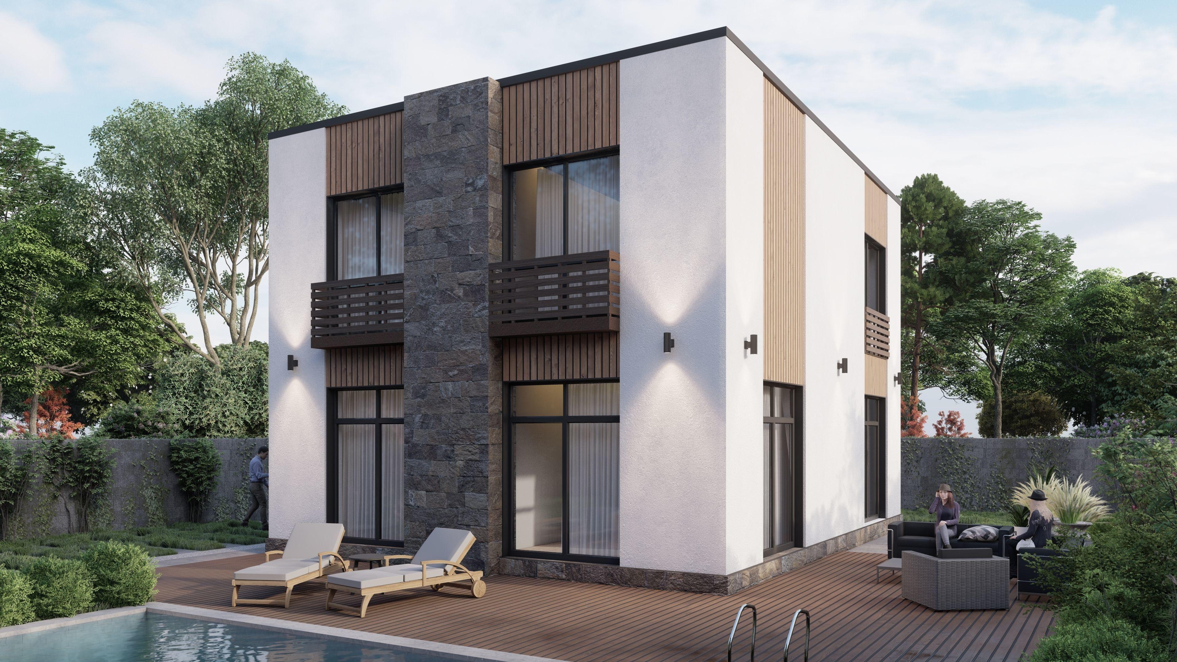 Modern  villa residential building House V5