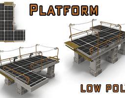 Sci fi platform 3D asset
