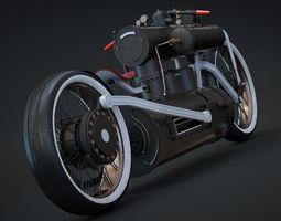 3D model Steampunk bike