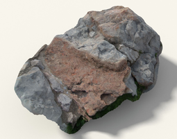 3d model scanned bright rock formation