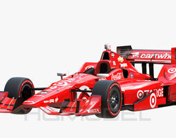 3D asset game-ready Indy Car Chevy 2015 PBR