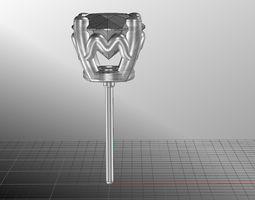 Fancy Flower Earring 3D print model