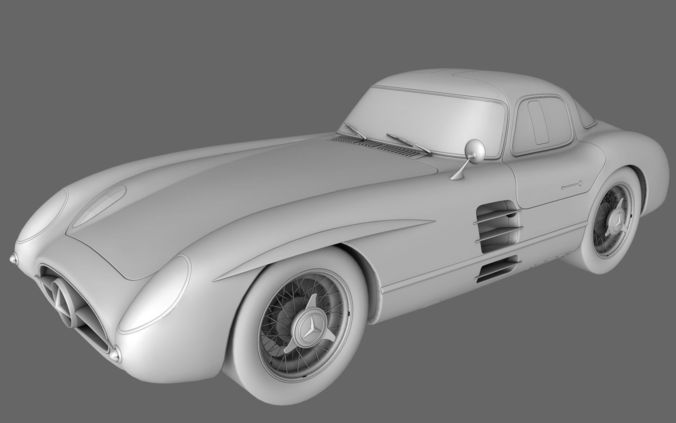 mercedes benz slr 300 amg 3d model low-poly obj 1