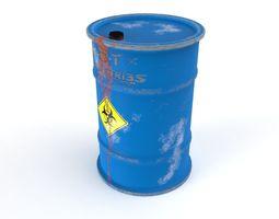 3D asset Leaking Barrel