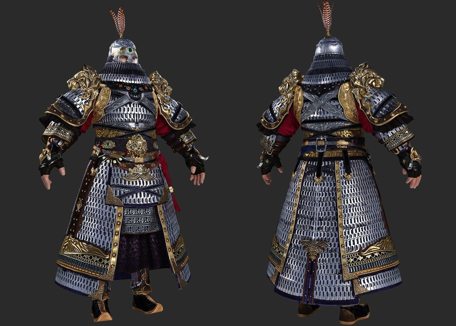 Armor of heavy cavalry in ancient China Iron float general