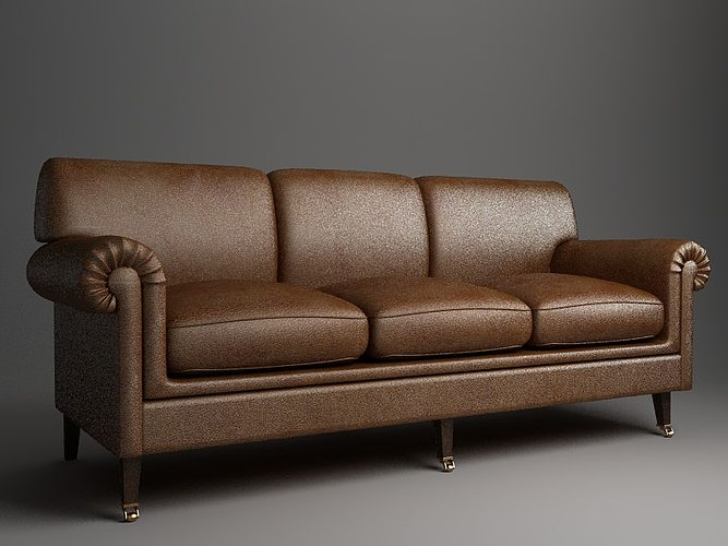 Rolled Arm Sofa 3d Cgtrader