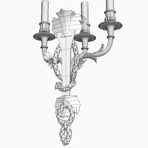 candelabrum sconce light 3d model max obj 3ds fbx