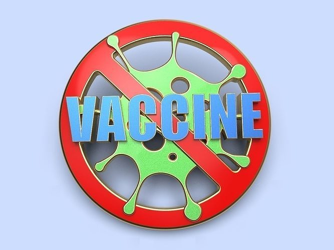 pin badge of a person vaccinated against coronavirus