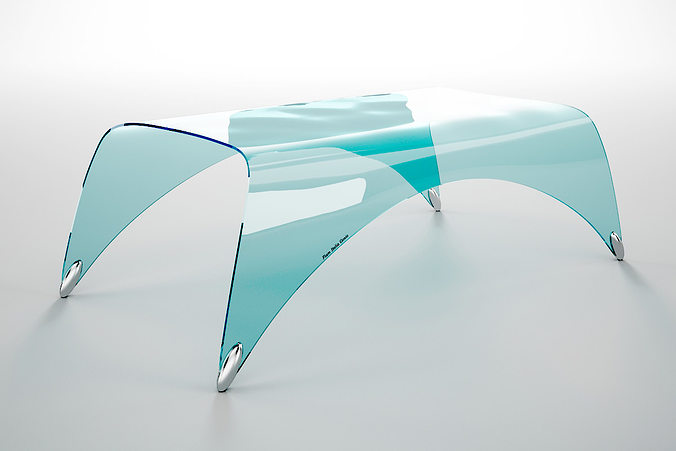 table fiam italia genio 3d model max obj mtl fbx 1